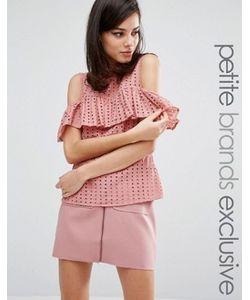 Fashion Union Petite   Блузка С Открытыми Плечами И Оборками Victor