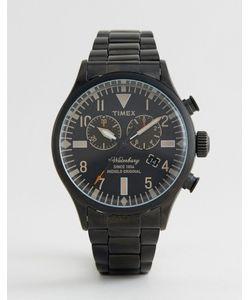 Timex | Черные Часы С Хронографом Heritage Waterbury