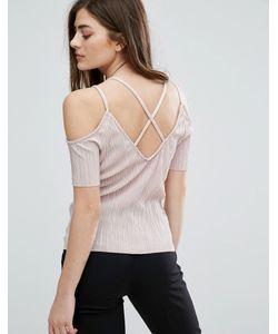 New Look   Плиссированный Топ С Открытыми Плечами