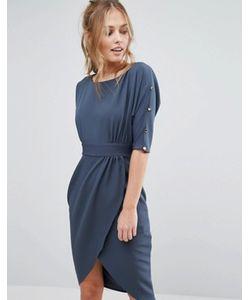 Closet London | Платье Миди С Запахом И Рукавами 3/4 Closet