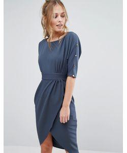 Closet London   Платье Миди С Запахом И Рукавами 3/4 Closet