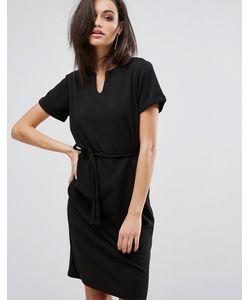 Club L | Платье Миди С V-Образным Вырезом И Завязкой На Талии