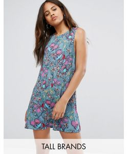 Glamorous Tall | Синее Свободное Платье Без Рукавов С Цветочным Принтом