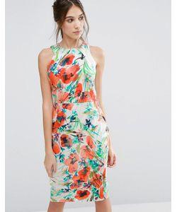 Closet London   Платье-Футляр С Цветочным Принтом Closet