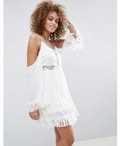 Raga | Платье С Кружевной Вставкой И Открытыми Плечами The Hayley