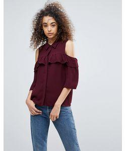 Gestuz   Рубашка С Открытыми Плечами И Оборками Genine
