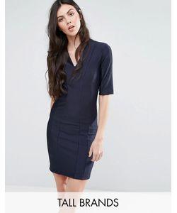 Y.A.S Tall | Платье В Рубчик С Рукавами До Локтя Calice