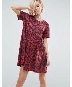 Asos | Свободное Платье С Леопардовым Принтом