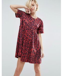 Asos   Свободное Платье С Леопардовым Принтом