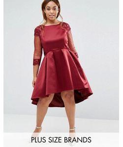 Chi Chi Plus | Платье С Длинными Рукавами Для Выпускного Chi Chi London Plus