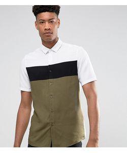 Asos | Рубашка Классического Кроя Со Вставками Tall