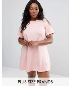 NVME   Свободное Платье Размера Плюс С Вырезами На Плечах