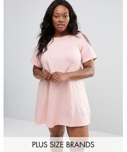 NVME | Свободное Платье Размера Плюс С Вырезами На Плечах