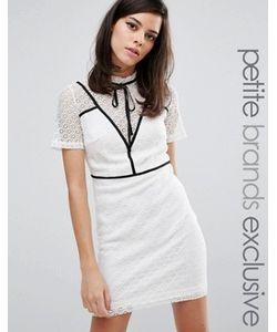 Fashion Union Petite   Платье-Футляр С Контрастной Вставкой И Завязкой Gerrard