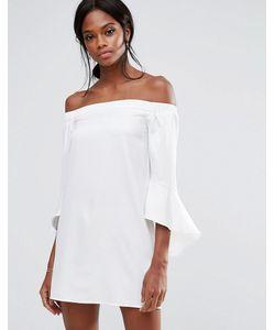 MISSGUIDED | Цельнокройное Платье Мини С Оборками На Рукавах