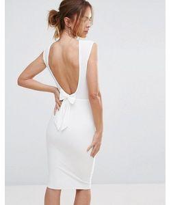 Club L | Платье Миди С Бантом Сзади