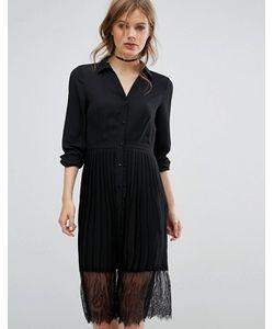 Vero Moda | Платье-Рубашка С Плиссированной Юбкой