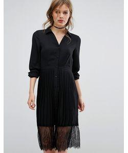 Vero Moda   Платье-Рубашка С Плиссированной Юбкой
