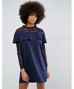 Unique 21 | Платье С Кружевом И Рюшами Unique21