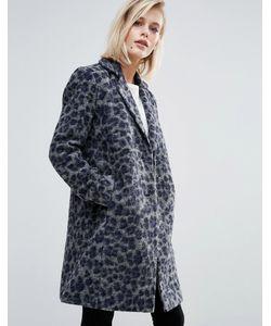 Pepe Jeans London | Пальто С Добавлением Шерсти С Леопардовым Принтом Yvonne