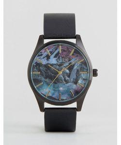 Reclaimed Vintage | Черные Часы С Кожаным Ремешком И Принтом