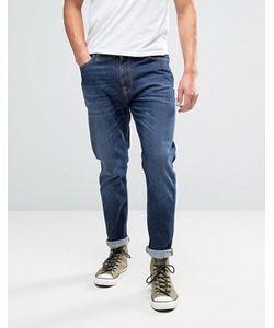Nudie Jeans Co | Синие Выбеленные Джинсы Brute Knut