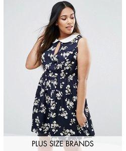 Koko | Приталенное Платье Размера Плюс С Цветочным Принтом