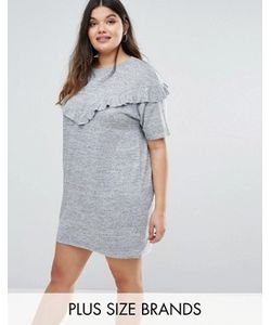Boohoo Plus | Платье-Футболка С Оборками