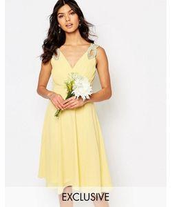 TFNC | Платье Для Выпускного С Декорированными Плечами Wedding