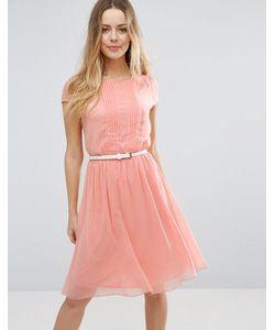 Jasmine | Короткое Приталенное Платье С Отделкой Плиссе