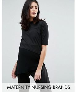 Mama Licious | Mamalicious Nursing Short Sleeve Double Layer Jersey Top