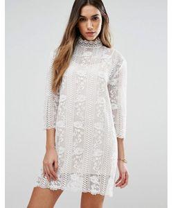 Jovonna | Кружевное Платье С Высоким Воротом Table Maner