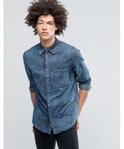 Cheap Monday | Мраморная Джинсовая Рубашка Цвета Индиго Rude