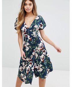 boohoo | Платье С Запахом И Цветочным Принтом