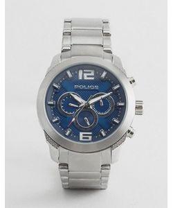 Police | Кварцевые Часы С Синим Циферблатом И Хронографом
