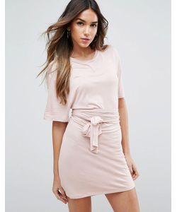 Asos | Платье Мини С Завязывающимся Поясом