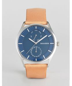 Skagen | Часы Со Светло-Коричневым Кожаным Ремешком Skw6369