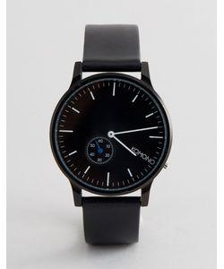 Komono | Часы С Черным Кожаным Ремешком Winston