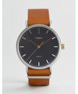 Timex | Часы С Коричневым Кожаным Ремешком 41 Мм Weekender Fairfield