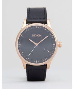 Nixon   Часы С Кожаным Ремешком Station