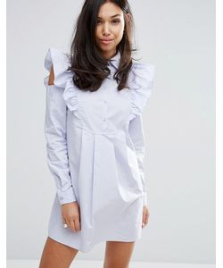 Fashion Union | Платье-Рубашка С Отделкой На Рукавах