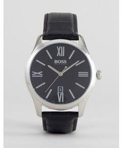 BOSS | Часы С Черным Кожаным Ремешком By Hugo 1513022 Ambassador