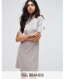 Y.A.S Tall | Платье С Высокой Горловиной И Заниженной Талией Sheila