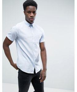 Jack & Jones | Узкая Рубашка С Добавлением Льна И Короткими Рукавами