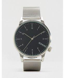 Komono | Серебристые Часы С Сетчатым Браслетом Winston Royale