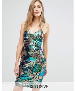 Club L | Платье Мини На Бретельках С Узором Из Пайеток