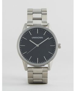 UNKNOWN | Серебристые Наручные Часы С Черным Циферблатом
