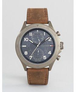Tommy Hilfiger | Часы С 1791343 Хронографами И Коричневым Кожаным Ремешком
