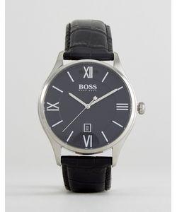 BOSS | Часы С Черным Кожаным Ремешком By Hugo 1513485 Governor