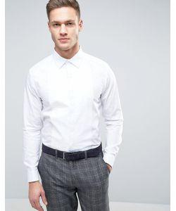 Burton Menswear | Строгая Рубашка Узкого Кроя С Отделкой
